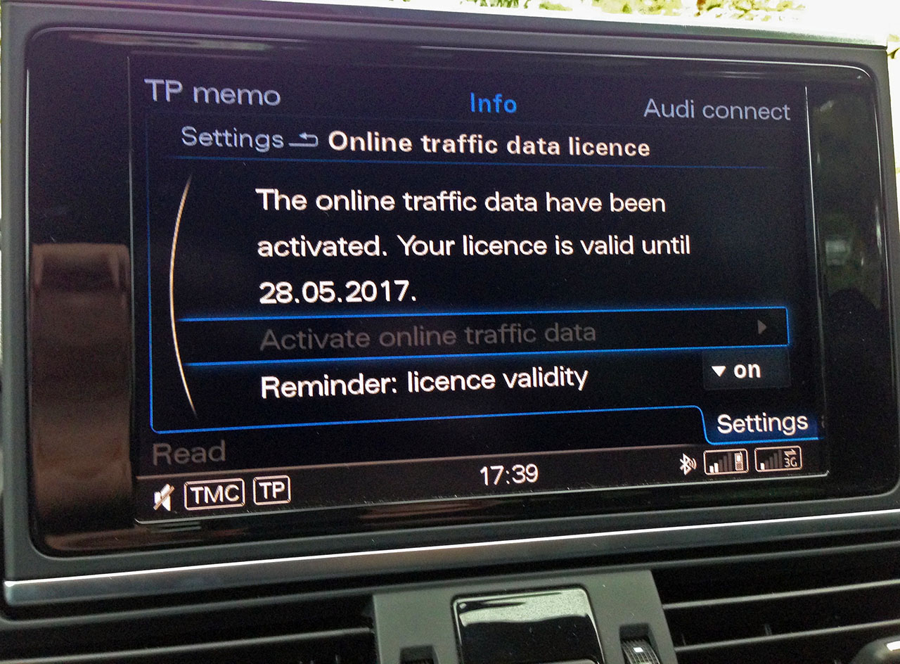 Enable Online Traffic Data [Archive] - VW Audi Forum - The